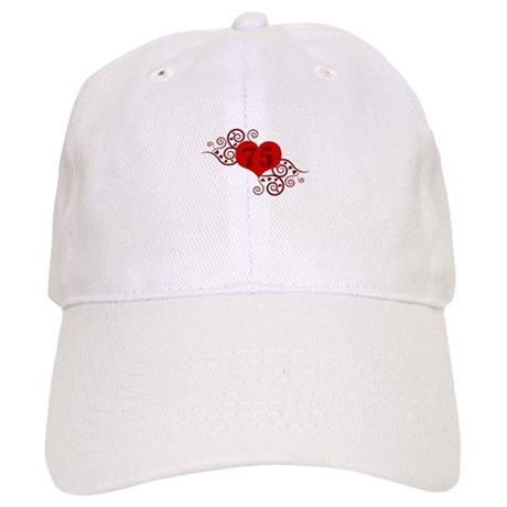 75th Birthday Fancy Heart Cap