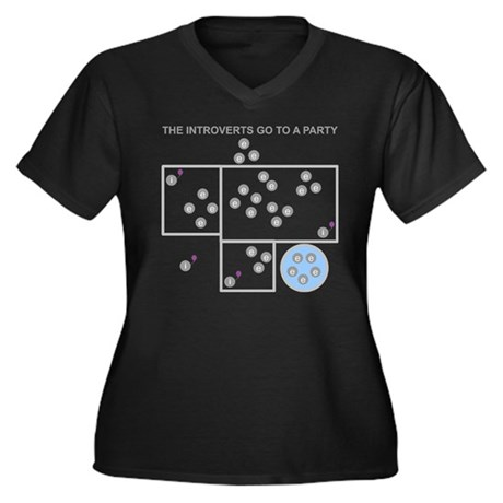 The Introverts Go To a Party Women's Plus Size V-N