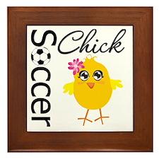 Soccer Chick v2 Framed Tile