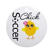 Soccer Chick v2 Ornament (Round)
