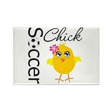 Soccer Chick v2 Rectangle Magnet