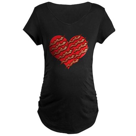 Bacon Luvin Maternity Dark T-Shirt