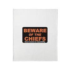 Beware / Chief Throw Blanket
