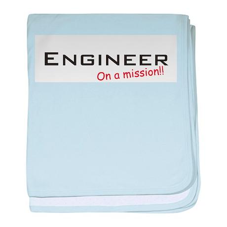 Engineer/Mission baby blanket