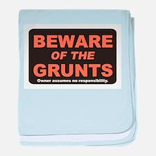 Beware / Grunt baby blanket