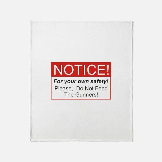 Notice / Gunners Throw Blanket