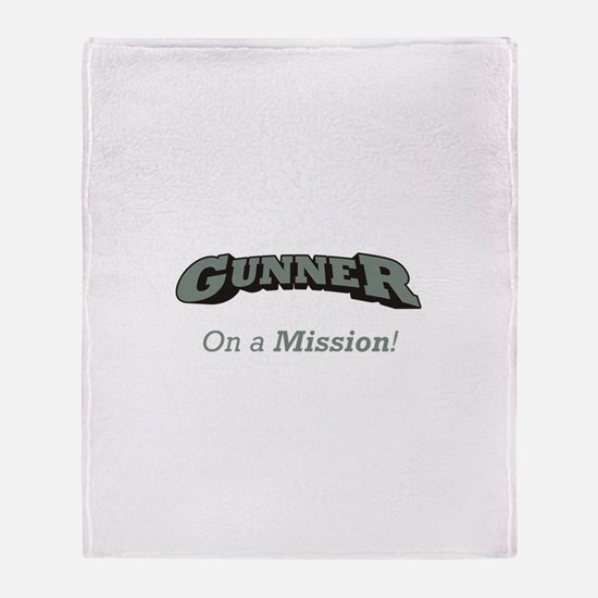 Gunner - On a Mission Throw Blanket