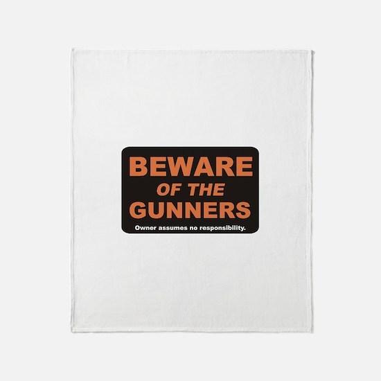 Beware / Gunner Throw Blanket
