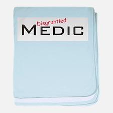 Disgruntled Medic baby blanket