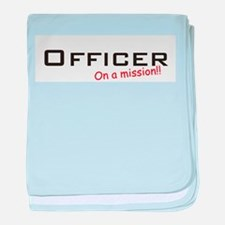 Officer/Mission baby blanket