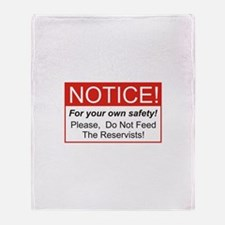 Notice / Reservists Throw Blanket