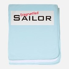 Disgruntled Sailor baby blanket