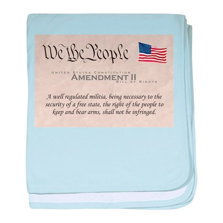 Amendment II baby blanket
