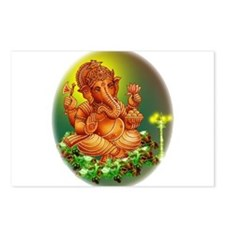 Golden Ganesh Postcards (Package of 8)