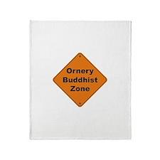 Buddhist / Ornery Throw Blanket