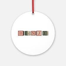 Benji Alphabet Block Ornament (Round)