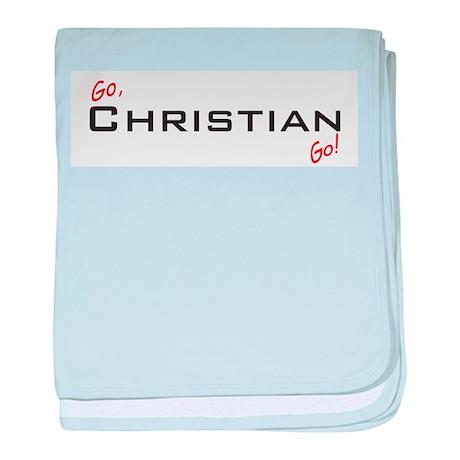 Go Christian baby blanket