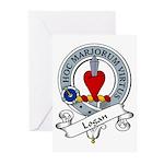 Logan Clan Badge Greeting Cards (Pk of 10)