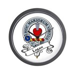 Logan Clan Badge Wall Clock