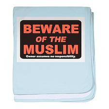 Beware / Muslim baby blanket