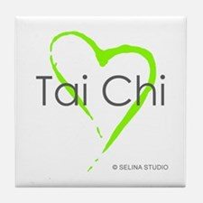 """Tai Chi Heart"" Tile Coaster"