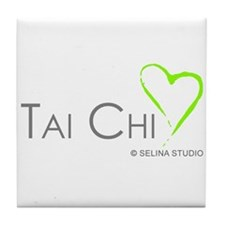 """Tai Chi Heart 2"" Tile Coaster"