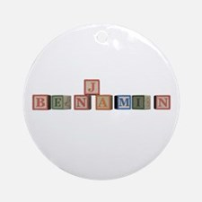 Benjamin Alphabet Block Ornament (Round)