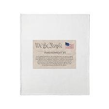 Amendment VI Throw Blanket