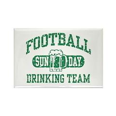 Football Sunday Drinking Team Rectangle Magnet