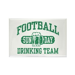 Football Sunday Drinking Team Rectangle Magnet