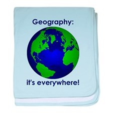 Geography baby blanket