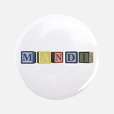 "Mandi Alphabet Block 3.5"" Button"