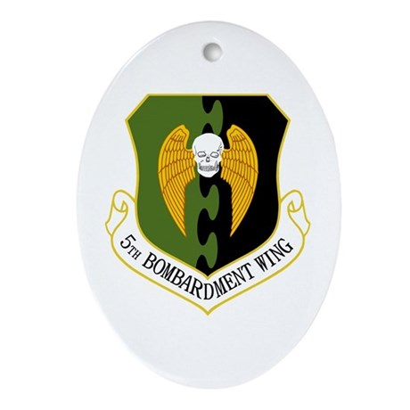 5th Bomb Wing Ornament (Oval)