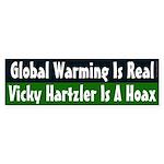 Global Warming & Vicky Hartzler bumper sticker