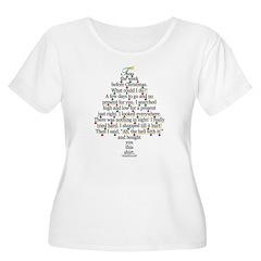 Christmas Tree, Gift, Poem, f T-Shirt