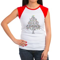 Christmas Tree, Gift, Poem, f Women's Cap Sleeve T