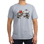 """Men's Fitted T-Shirt (dark) """"I Love Cats&quot"""