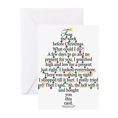 Christmas Tree Gift Poem Card Greeting Cards (Pk o