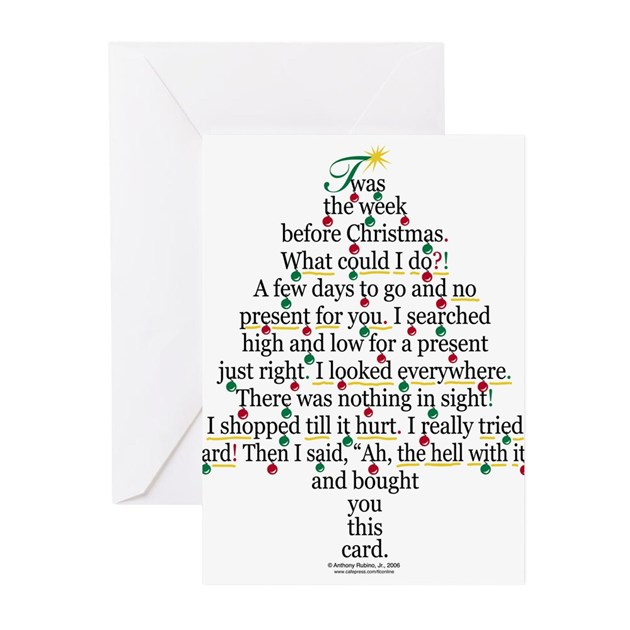 Poem About A Christmas Tree: Christmas Tree Gift Poem Card Greeting Cards (Pk O By