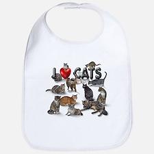 """""""I Love Cats"""" Bib"""