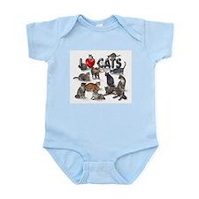 """I Love Cats"" Infant Bodysuit"