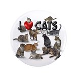 """""""I Love Cats"""" 3.5"""" Button (100 pack"""