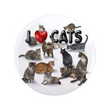 """I Love Cats"" 3.5"" Button (100 pack"