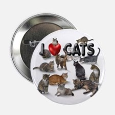 """""""I Love Cats"""" 2.25"""" Button (100 pac"""