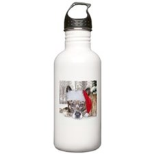 Christmas Brindle Mountain Cu Water Bottle