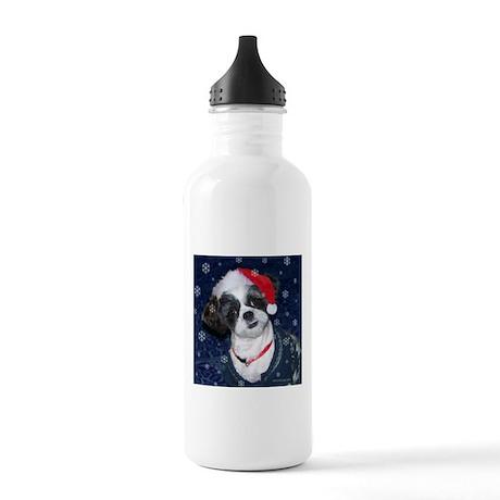 Shih Tzu Santa Stainless Water Bottle 1.0L