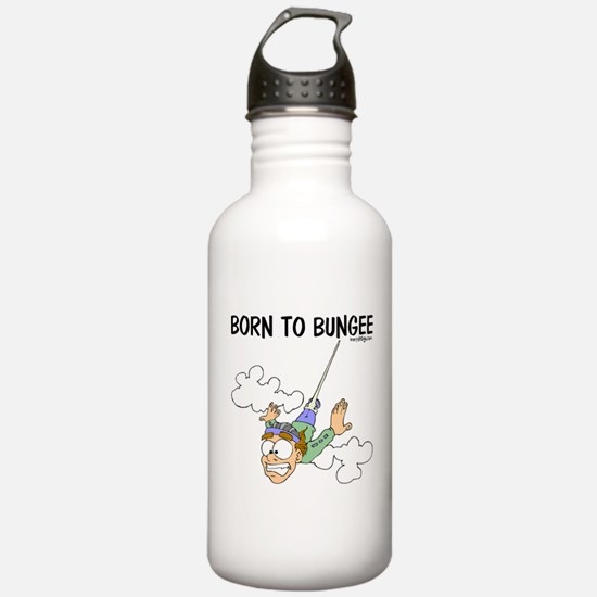 Born To Bungee Water Bottle