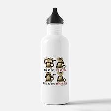 No Evil Fun Monkeys Water Bottle