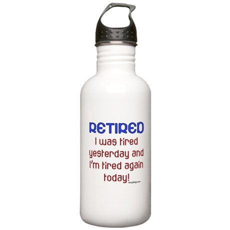 Retired & Tired Stainless Water Bottle 1.0L