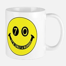 70th birthday smiley face Mug